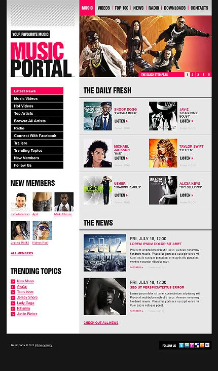 49 best images about music web templates on pinterest muse music
