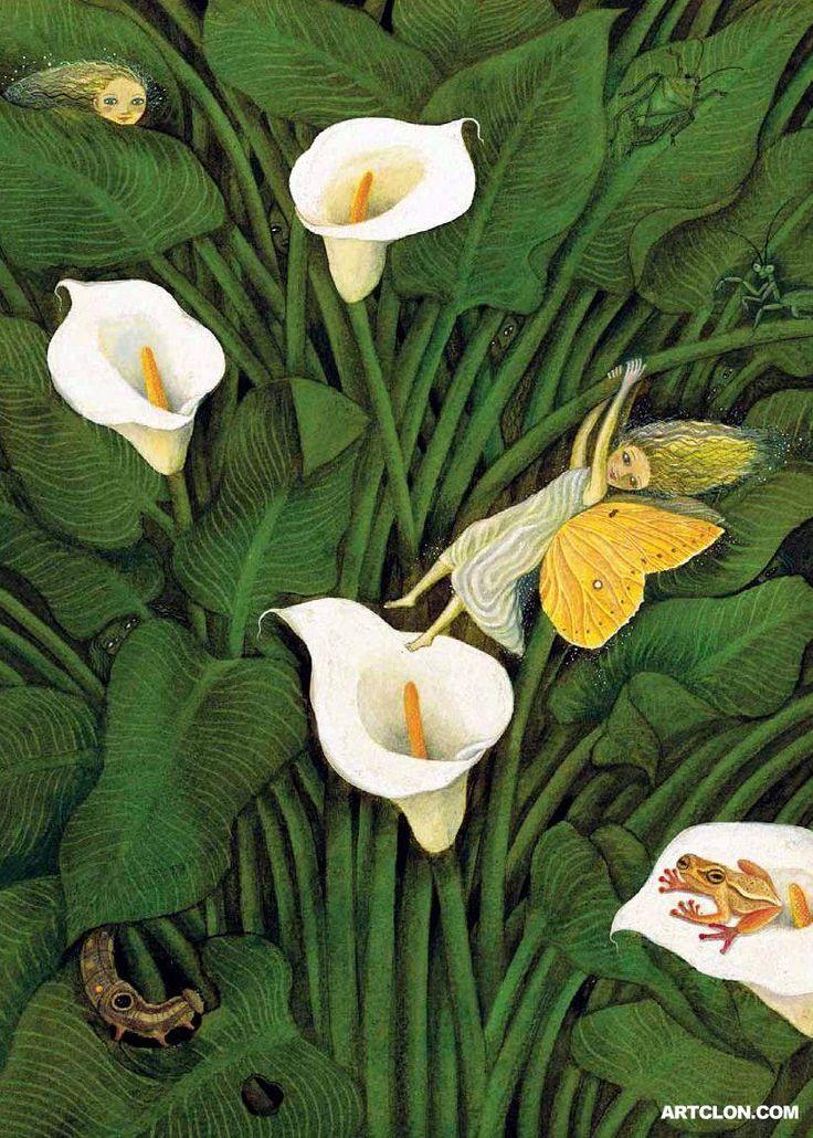 Diego Rivera | Fairy in the Calla Lillies