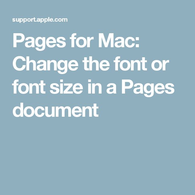 how to change font on mac