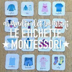 Montessori: etichette per armadi organizzati (PDF) http://www.babygreen.it/2016/11/etichette-armadi-bambini-montessori/?utm_campaign=coschedule&utm_source=pinterest&utm_medium=BabyGreen&utm_content=Montessori%3A%20etichette%20per%20armadi%20organizzati%20%28PDF%29
