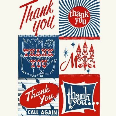 Thank You: unknown via Print and Pattern: Printable, Pattern, Illustration, Retro Font, Typography