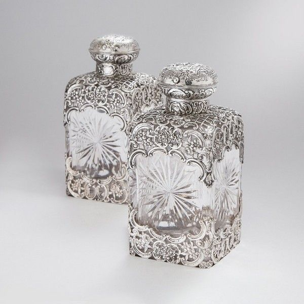 Pair of Silver and Crystal Victorian Perfume Bottles ❤ liked on Polyvore featuring home, bed & bath, bath, bath accessories, victorian bathroom accessories, crystal bath accessories, victorian perfume bottles, crystal perfume bottles and crystal bathroom accessories
