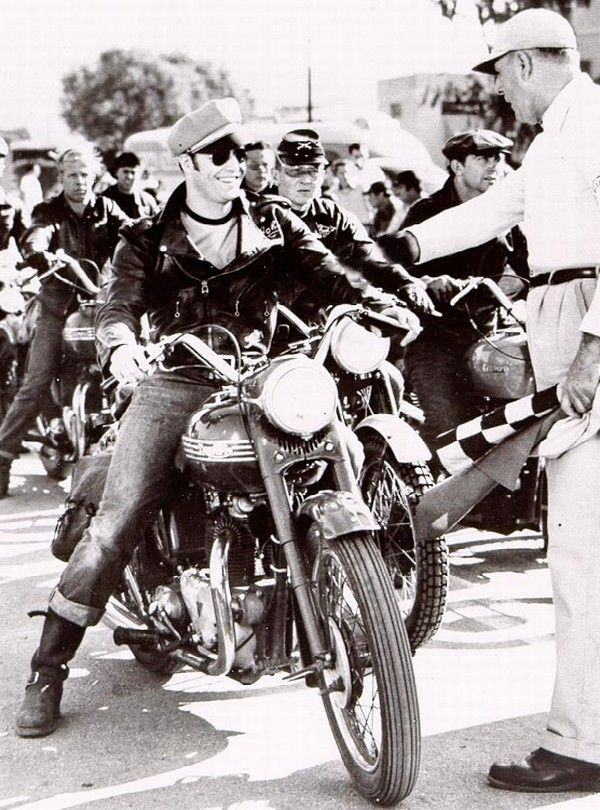 "Arguably the biggest boost for Triumph motorcycles came from Marlon Brando's 1954 movie ""The Wild One."" Riding his own 1950 Thunderbird, Brando played Johnny, leader of the Black Rebels MC in the film that arguably started the biker-flick genre."
