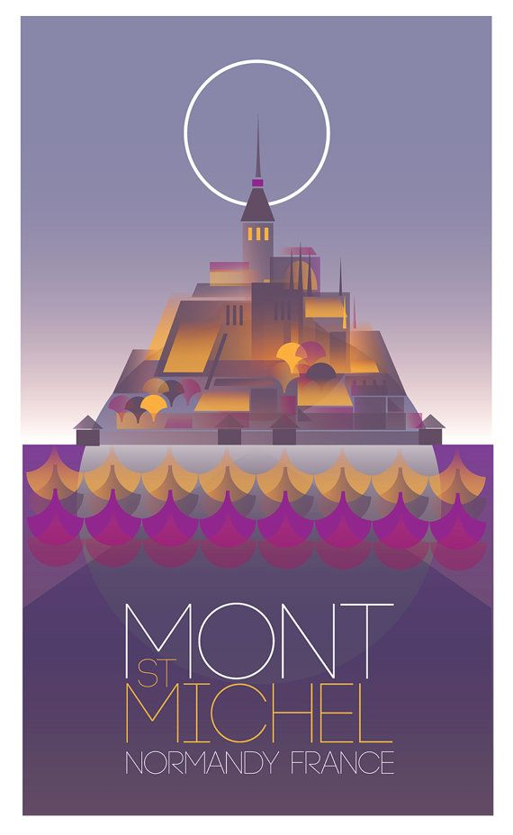 Mont St Michel Large Digital print. 270 x 460 mm by GraffikHeart, $25.00