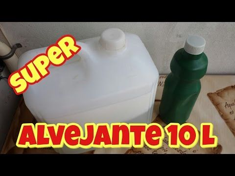 ALVEJANTE / ÁGUA SANITÁRIA CASEIRA - ROUPAS SUPER BRANCAS - YouTube