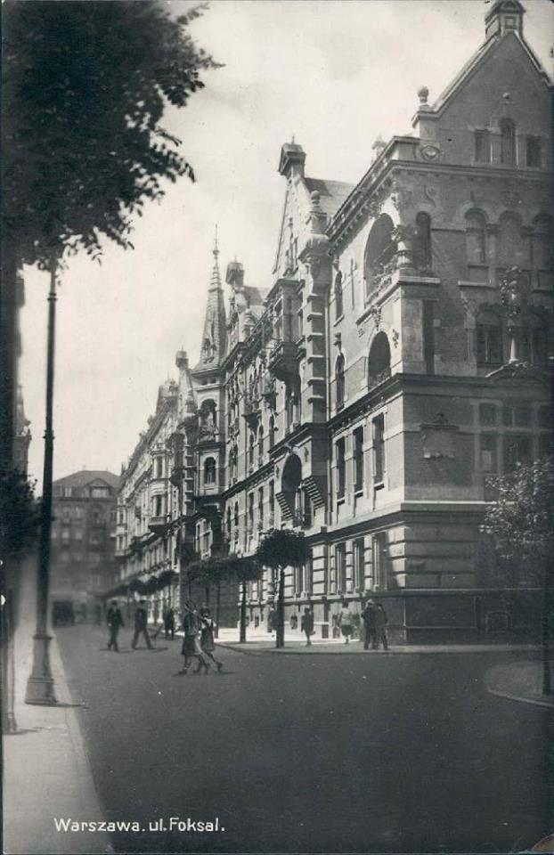 Ulica Foksal w 1928 roku. Fot. Źródło Fotopolska