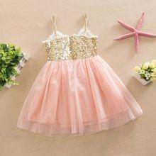Vestidos de princesa Crianças Meninas V Nect Cinta Lantejoulas Festa De Casamento Tule Vestido Tutu Vestido De Verão X16 alishoppbrasil