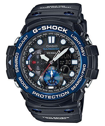 Men's Wrist Watches - Casio GShock Master of G Smoke Dial Resin Quartz Mens Watch GN1000B1A >>> Check out this great product.
