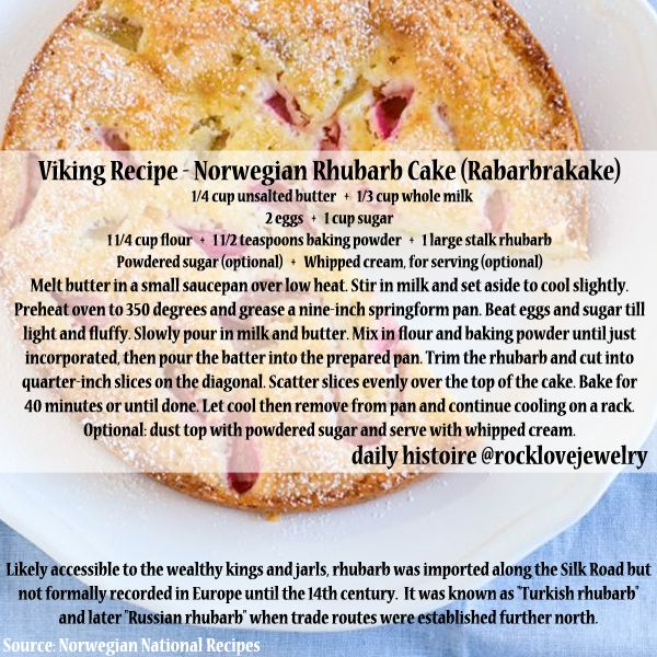 Norwegian recipes which are still enjoyed today… Basic versions (oat, barley, wheat, or almond flour and honey in place of sugar) are reminiscent of Viking Age baking, topped with native fruits and...