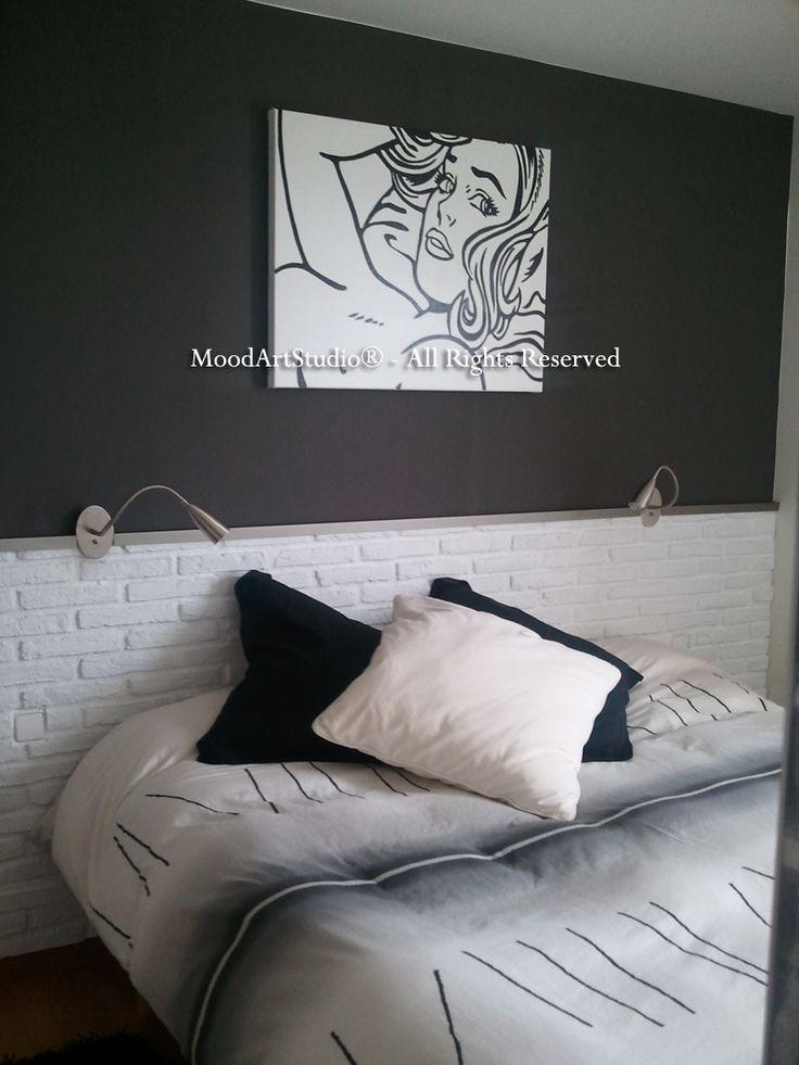 Cuadro de rostro femenino estilo pop art en blanco y negro. Este es un cuadro que hemos realizado por encargo y por eso no hay un link. Os dejamos el de nuestra pagina. Gracias a nuestra clienta para la foto!