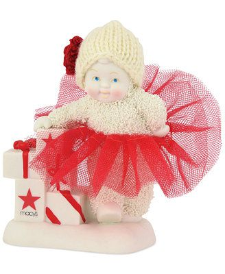 Department 56 Snowbabies Macy's Exclusive Strategic Shopper Snowbaby Collectible Figurine