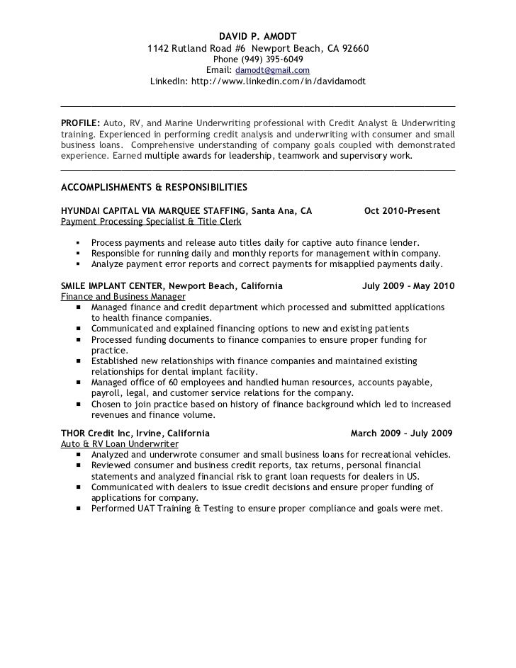 resume templates finance - Onwebioinnovate