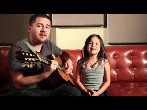 """Dad and daughter singing Adele's """"Rolling in the Deep"""".  She's such a sweetheart.  Listen all the way to the end. http://youtu.be/43bPhMj0dhM"""