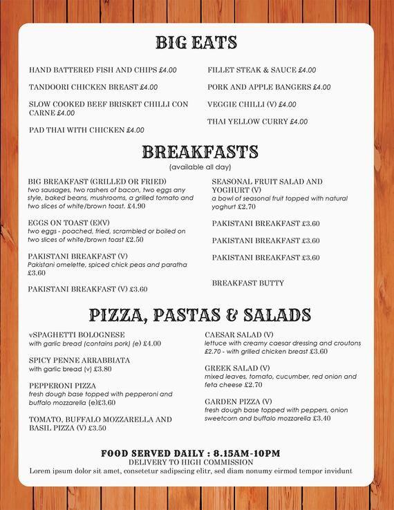Food Menu Menus Design Takeout Menus Us Menu Restaurant Menus Menutemplates Restaurant Menu Maker Drink Menu List Vintage Menu In 2021 Restaurant Menu Template Menu Template Word Menu Template