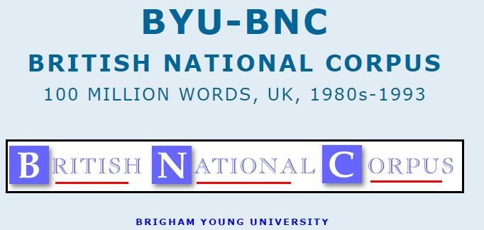 There are a wide range of additional resources that are based on the BYU corpora