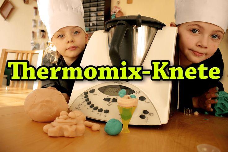 Selbstgemachte Knete ohne Alaun - kinderleicht im Thermomix.