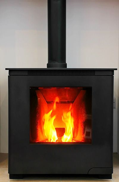 Automatic wood pellet boiler - heat the home and hot water - even manage from your mobile phone