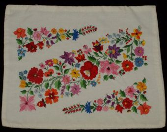 Printed Hungarian Kalocsa Floral Pattern Square от TheMightyCat