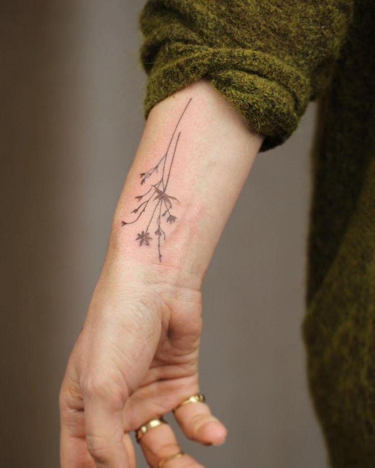 Wildflowers on wrist