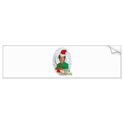merry xmas Hillary clinton Bumper Sticker - christmas stickers xmas eve custom holiday merry christmas