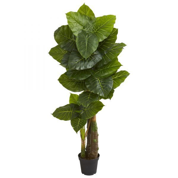 Faux 6 5 H Taro Tree Natural Home Decor Faux Tree Artificial Tree