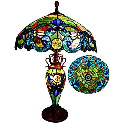 $179 Victorian Design Tiffany Style Two Light Table Lamp