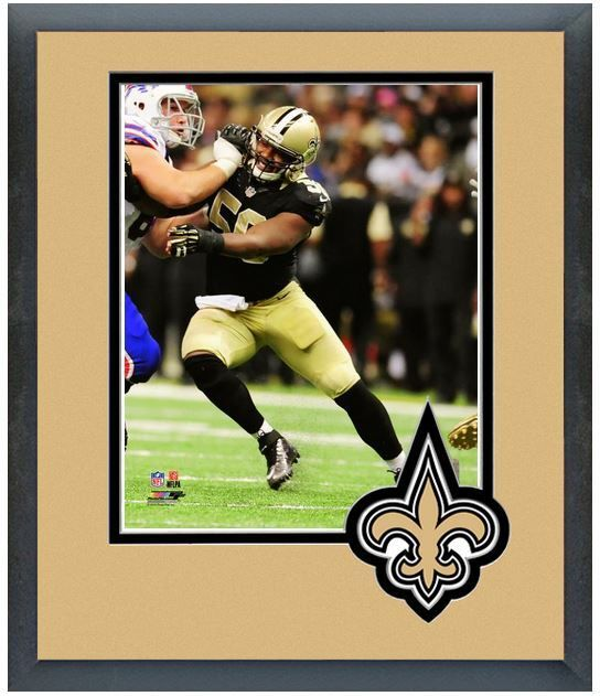 "Curtis Lofton 2013 New Orleans Saints - 11"" x 14"" Team Logo Matte/Framed Photo"