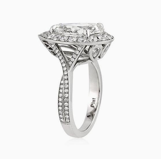 Cute Stunning Pear Shaped Diamond Wedding Halo Ring Argyle Set in Platinum http Commitment