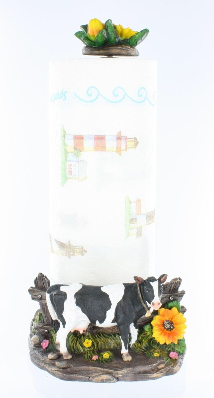 Dairy cow paper towel holder decorative