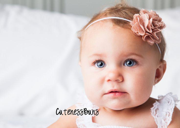 15% OFF, Baby Headbands, Baby Girl Headband, Baby Bows Headband, Infant Headband, Burlap Headband, Adult Headband, Pink Headband. $6.95, via Etsy.