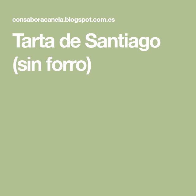 Tarta de Santiago (sin forro)