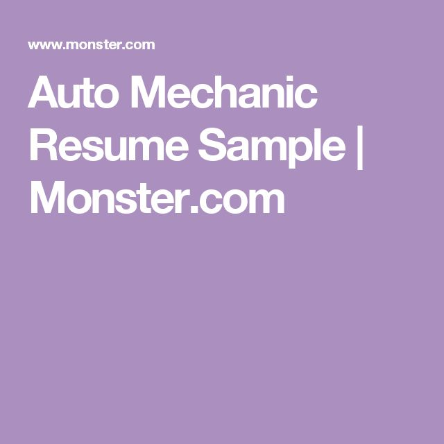 29 best Healthy Aging images on Pinterest Healthy aging - auto mechanic resume sample