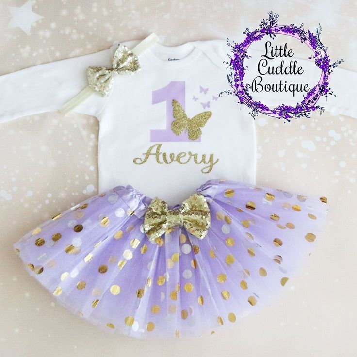 Personalized Butterfly First Birthday Tutu Outfit in 2020