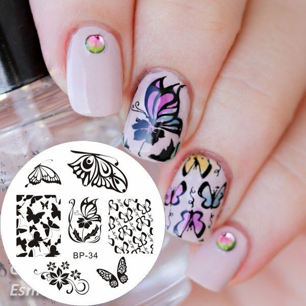 BORN PRETTY Romantic Butterfly Stamping Plate BP34