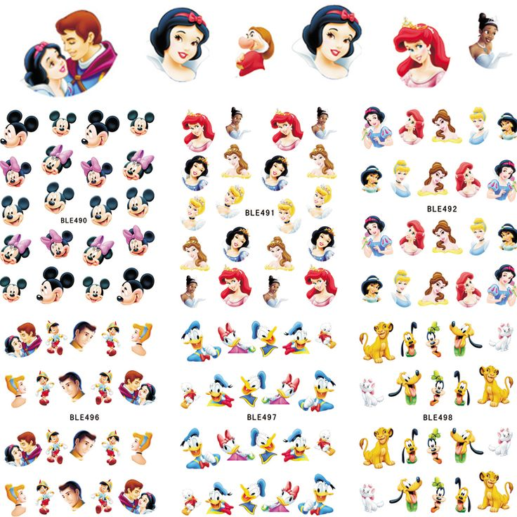 Cheap water stickers, Buy Quality nail art princess directly from China water stickers nail Suppliers: 1sheets Water Stickers Nail Art Princess Prince Cartoon Tattoos DIY Beauty Tips of Nail Art Decals Nail Decoration BLE489-499