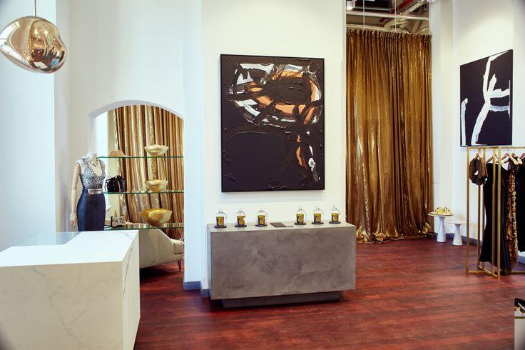 Aurelio Costarella boutique interior by JK Interiors. Como The Treasury Hotel, Perth