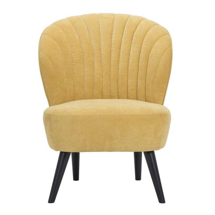 Fauteuil Ventura - stof - geel | Leen Bakker
