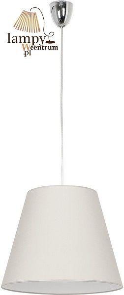 Malawi – nowoczesny zwis pojedynczy. Abażur wykonany z białego materiału. Całość powieszona na transparentnym przewodzie. Możliwość skrócenia.  Specyfikacja techniczna:     Typ żarówki    E27 (max 60W)   Liczba żarówek   1   Materiał   abażur   Wysokość   135 cm   Średnica   40 cm          Polecamy żarówki do tej lampy: