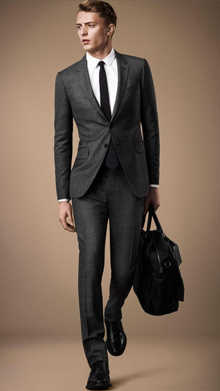 Slim Fit Travel Tailoring Wool Prince of Wales Check Suit | Burberry