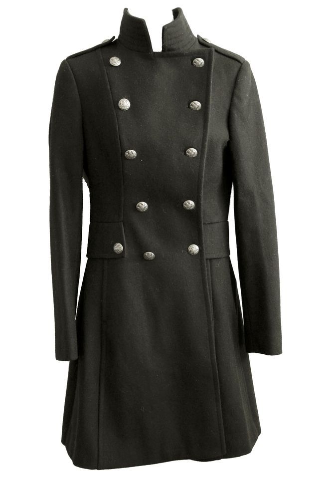 VICTORIA'S SECRET WOOL MILITARY LACE-UP COAT size 0/XXS in Clothes, Shoes & Accessories, Women's Clothing, Coats & Jackets | eBay