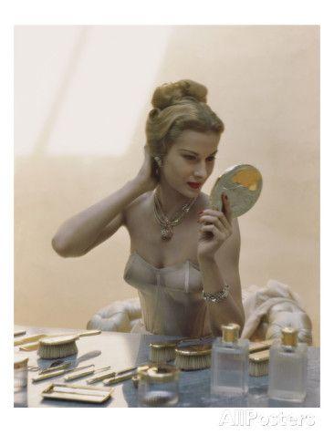 Vogue - April 1947 - Primping Regular Photographic Print
