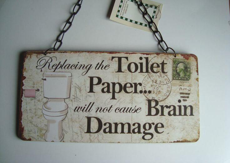Replacing the toilet paper will not cause brain damage :)