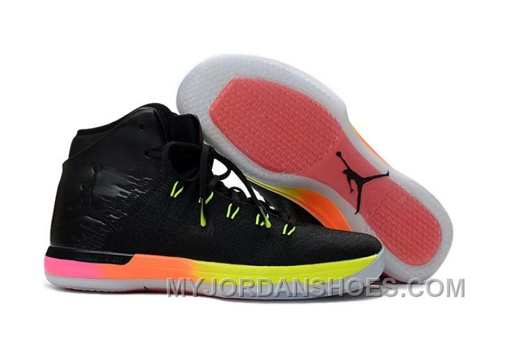 http://www.myjordanshoes.com/2017-air-jordan-xxx1-gs-rainbow-black-pink-volt-super-deals-a5pbd.html 2017 AIR JORDAN XXX1 GS RAINBOW BLACK PINK VOLT SUPER DEALS A5PBD Only $88.22 , Free Shipping!
