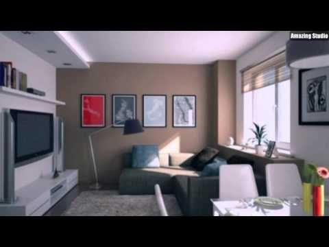 Kleines Wohnzimmer Essbereich Modern Einrichten Beige Weiss