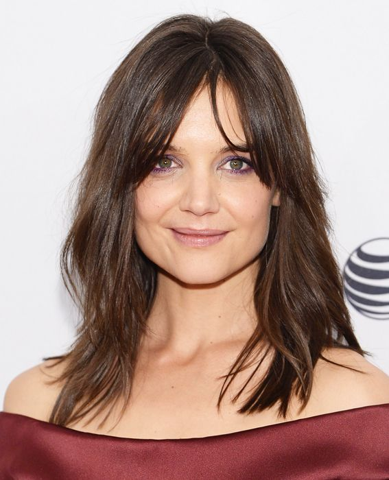 The Best Celebrity Bangs - Katie Holmes from #InStyle