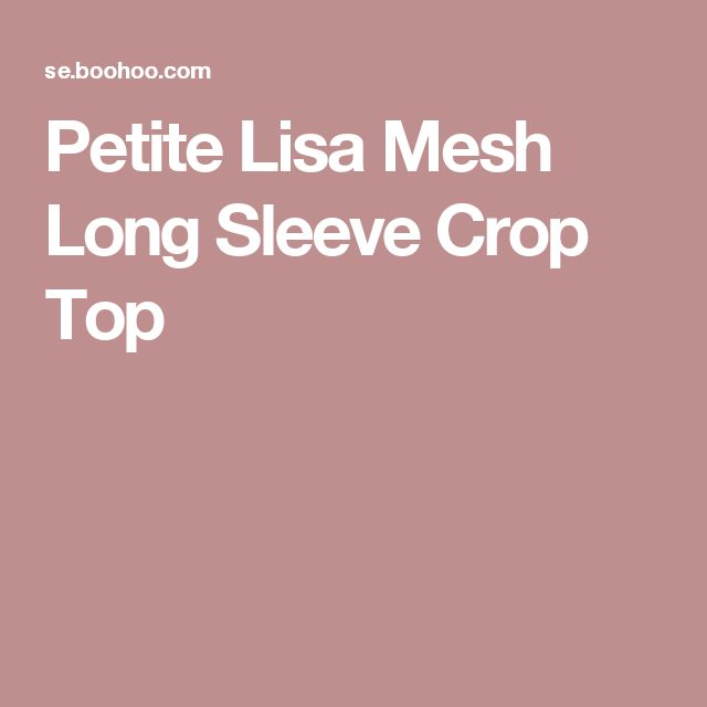Petite Lisa Mesh Long Sleeve Crop Top