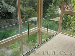 Internal infinity glass balustrades by Sunrock