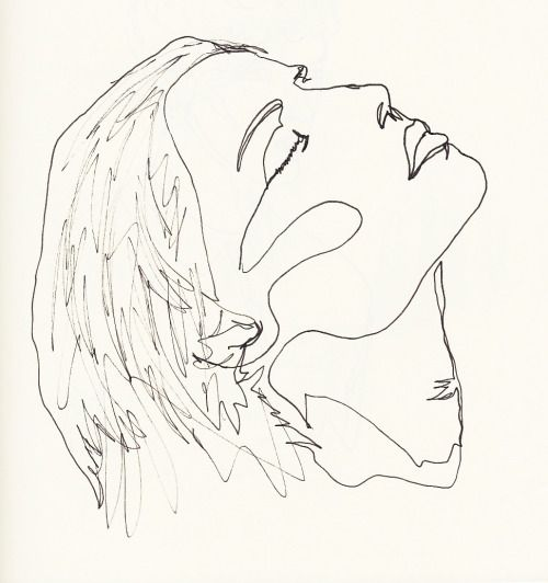 Drawing Lines Using C : Minimalist portrait drawing line google search