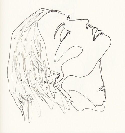 Line Drawing Portrait Tumblr : Minimalist portrait drawing line google search