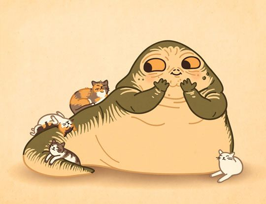 the fact that they were able to make Jabba the Hut look kinda cute is a major feat...